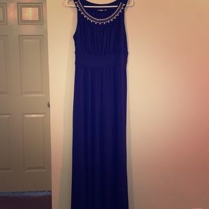 Sandiva Long Navy night gown dress